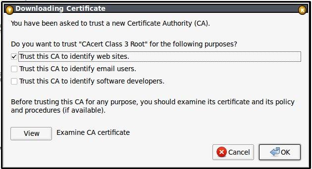 cacert.org class3.crt elfogadása